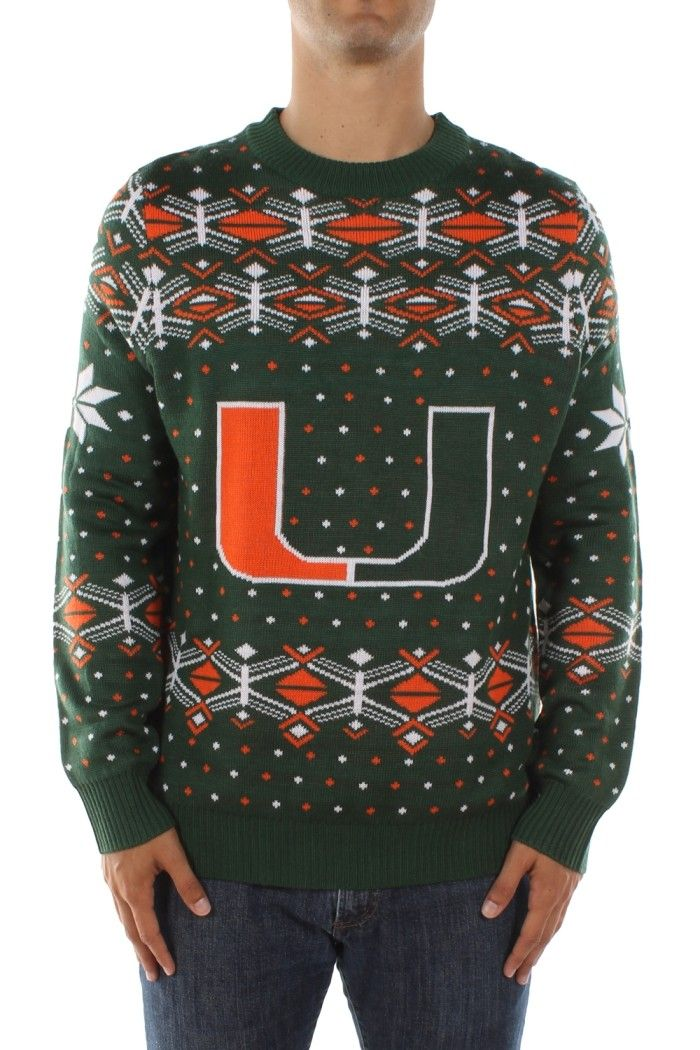 40f022a864c Men's University of Miami Sweater | Sports Gear | Holiday sweater ...