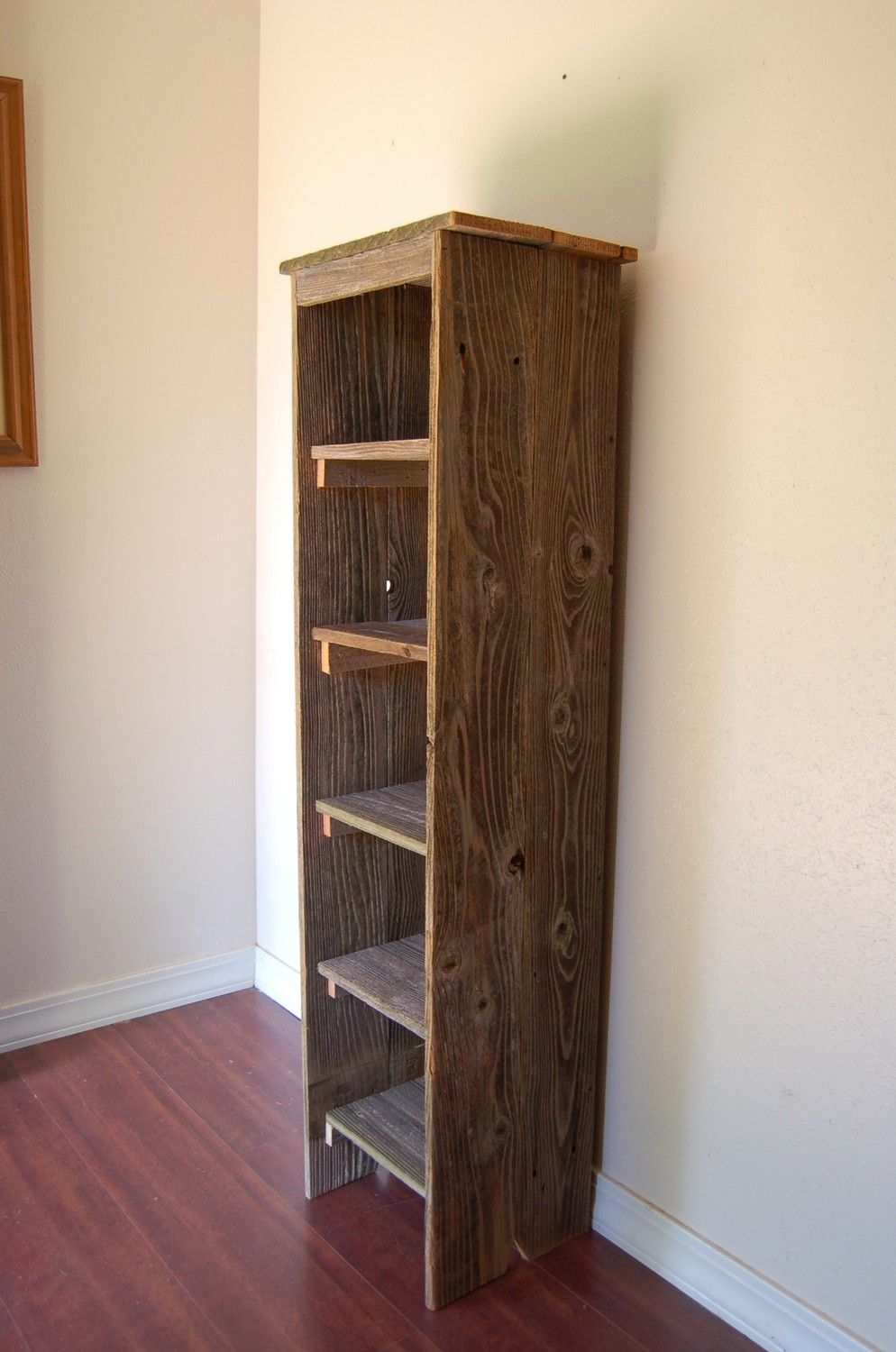 Ordinaire Wooden Bookcase. Tall Bookcase. Skinny Bookcase. Skinny Shelf. Apartment  Decor. Bathroom Shelf, Kitchen Shelf. Entry Storage Shelf