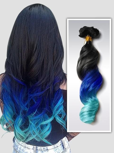Colorful Hair Extensions Hair Styles Ombre Hair Color Black Hair Ombre