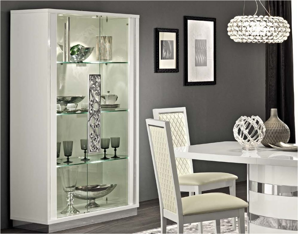 White Walnut High Gloss Italian Furniture