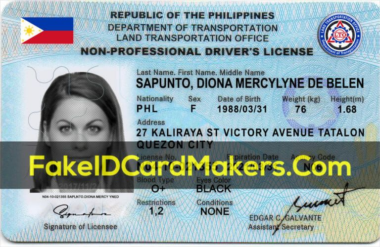 Philippines Drivers License Template Psd Fake Editable Download Drivers License State Abbreviations Id Card Template