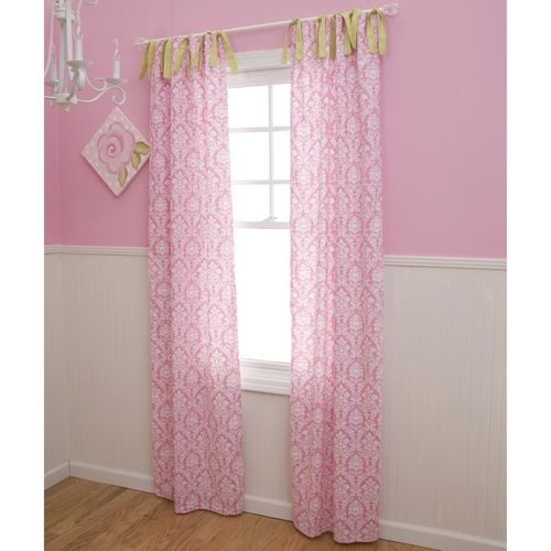 Baby Nursery Curtains Pink Curtains Kids Curtains Pair: Girl Nursery Curtains In Pink