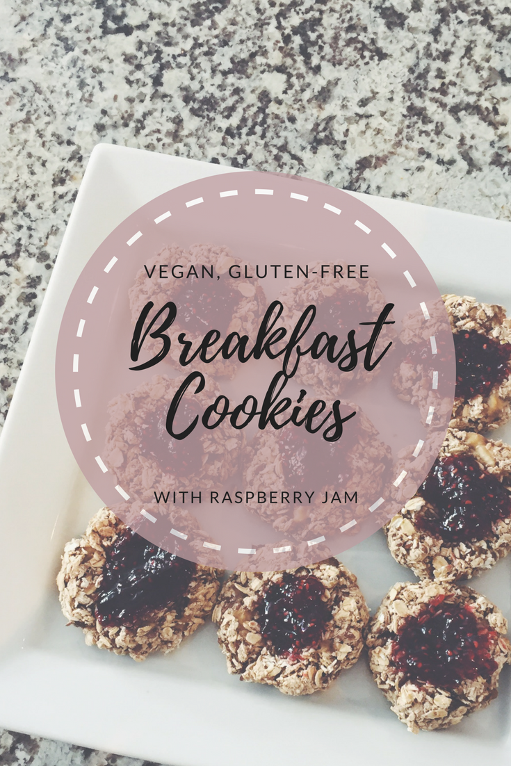 Vegan Gluten Free Breakfast Cookies With Raspberry Jam An Oh She Glows Copycat Recipe Vegan Gluten Free Breakfast Breakfast Cookies Raspberry Jam