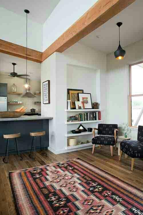 tribal print rug/window nook/kitchen island   future blueprints