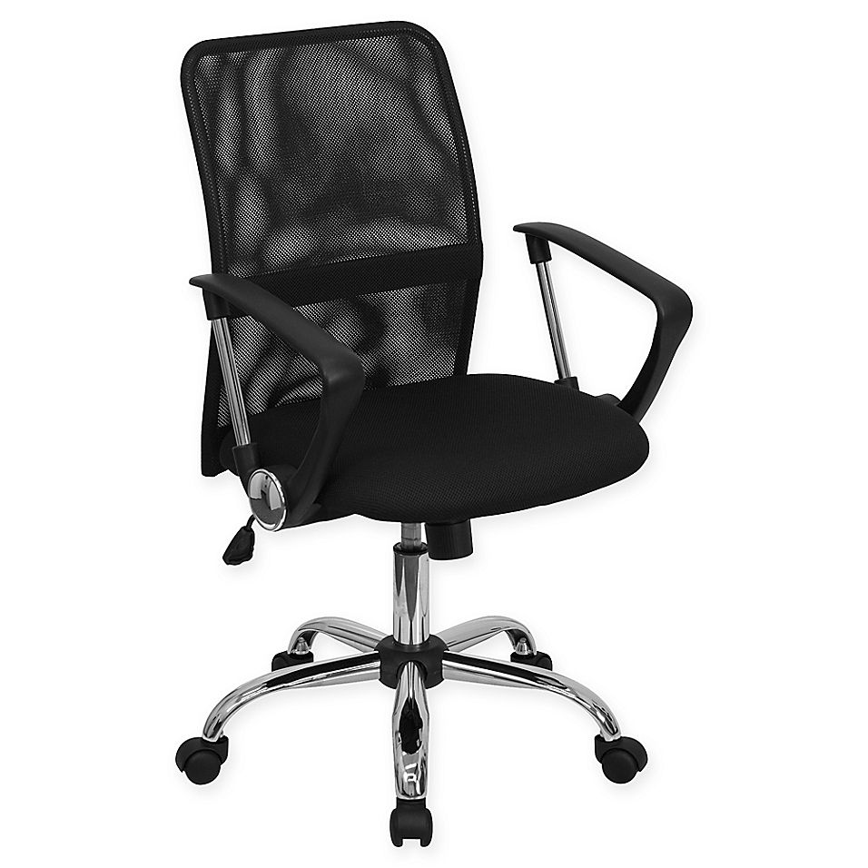 Flash Furniture Mid-Back Mesh Task Chair With Chrome Base ...