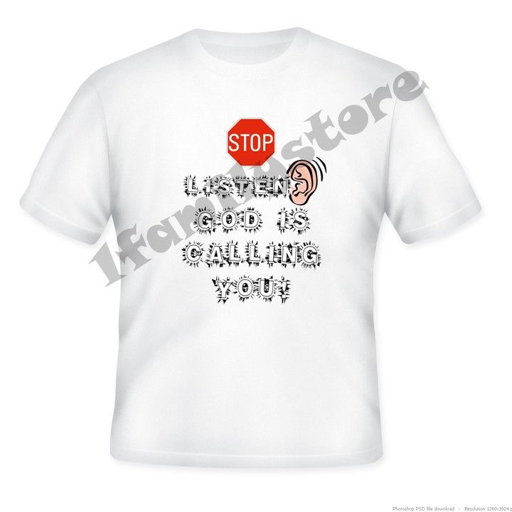 Stop Listen God Is Calling You. Tshirt from 1familystore on Square Market