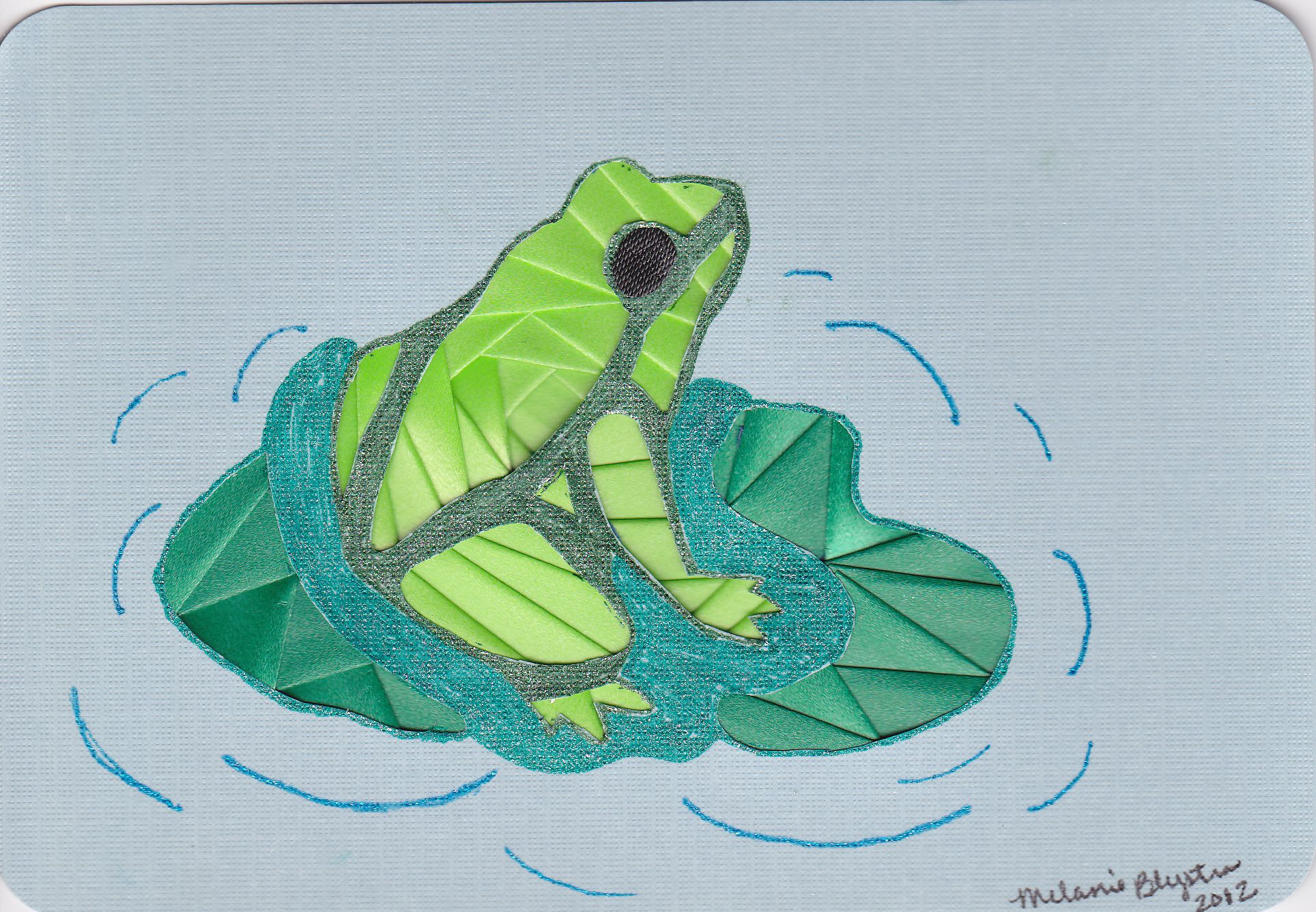 Iris folded frog | irish folding 1 | Iris paper folding ... - photo#45