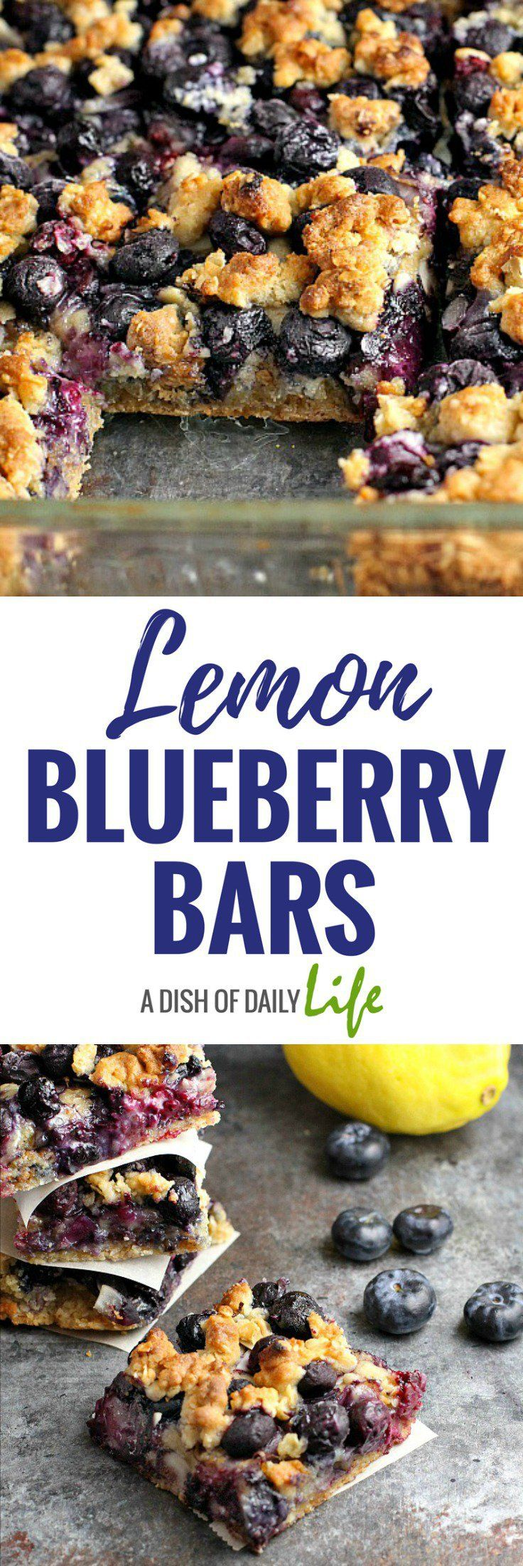 Check out Lemon Blueberry Bars. It's so easy to make ...