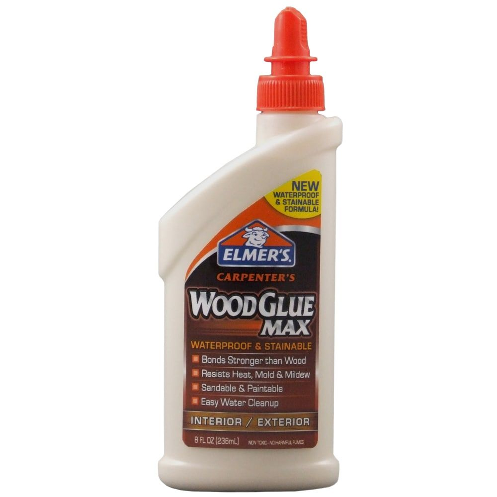 Elmer S 8 Oz Carpenter S Wood Glue Max Wood Glue In 2020 Wood Glue How To Waterproof Wood Wood