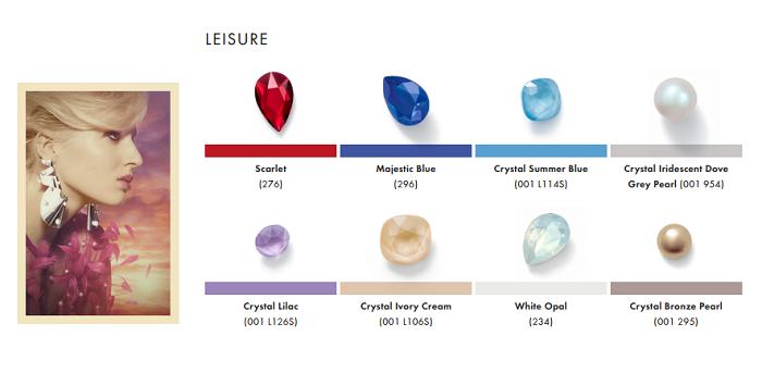 Swarovski Crystal Color Chart 2020.Swarovski Crystal Spring Summer 2019 Color Trend Information