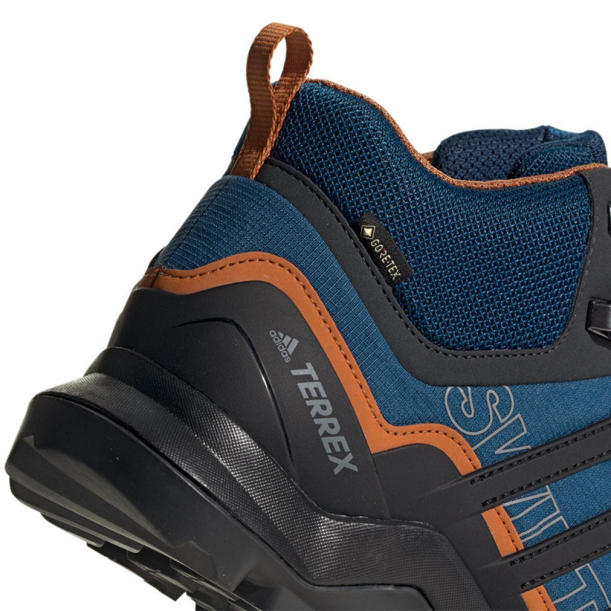 Buty Adidas Terrex Swift R2 Mid Gtx M G26551 Niebieskie Wielokolorowe Blue Shoes Trekking Shoes Sports Shoes Adidas