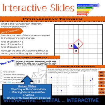 Pythagorean Theorem Interactive For Google Classroom Distance