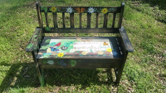 Hand painted Furinture Bench by Royston Slayton