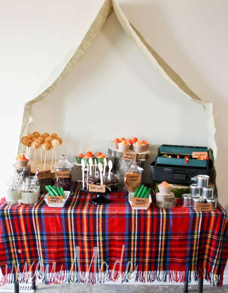 Camping/Woodsy Birthday Party Ideas Photo 27 of 28