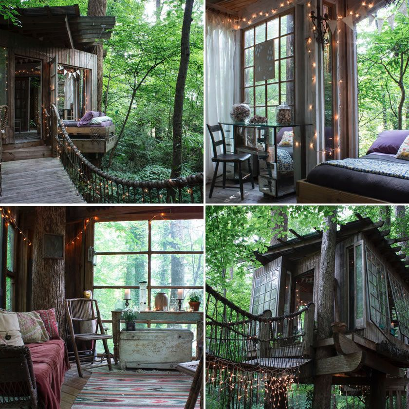 Suite Of 3 Connected Treehouses Set In The Secluded