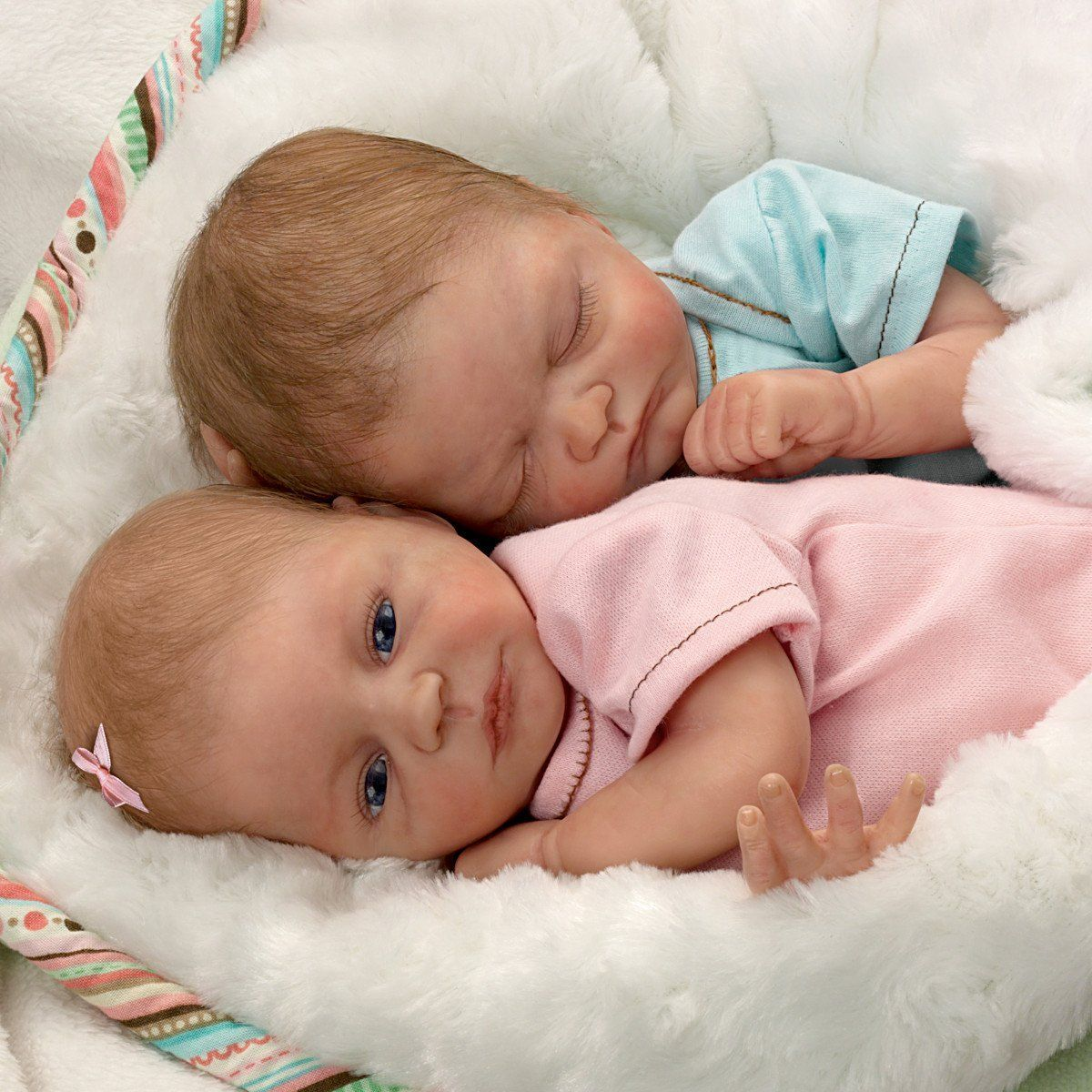 Ashton drake lifelike twin baby doll set by for The ashton