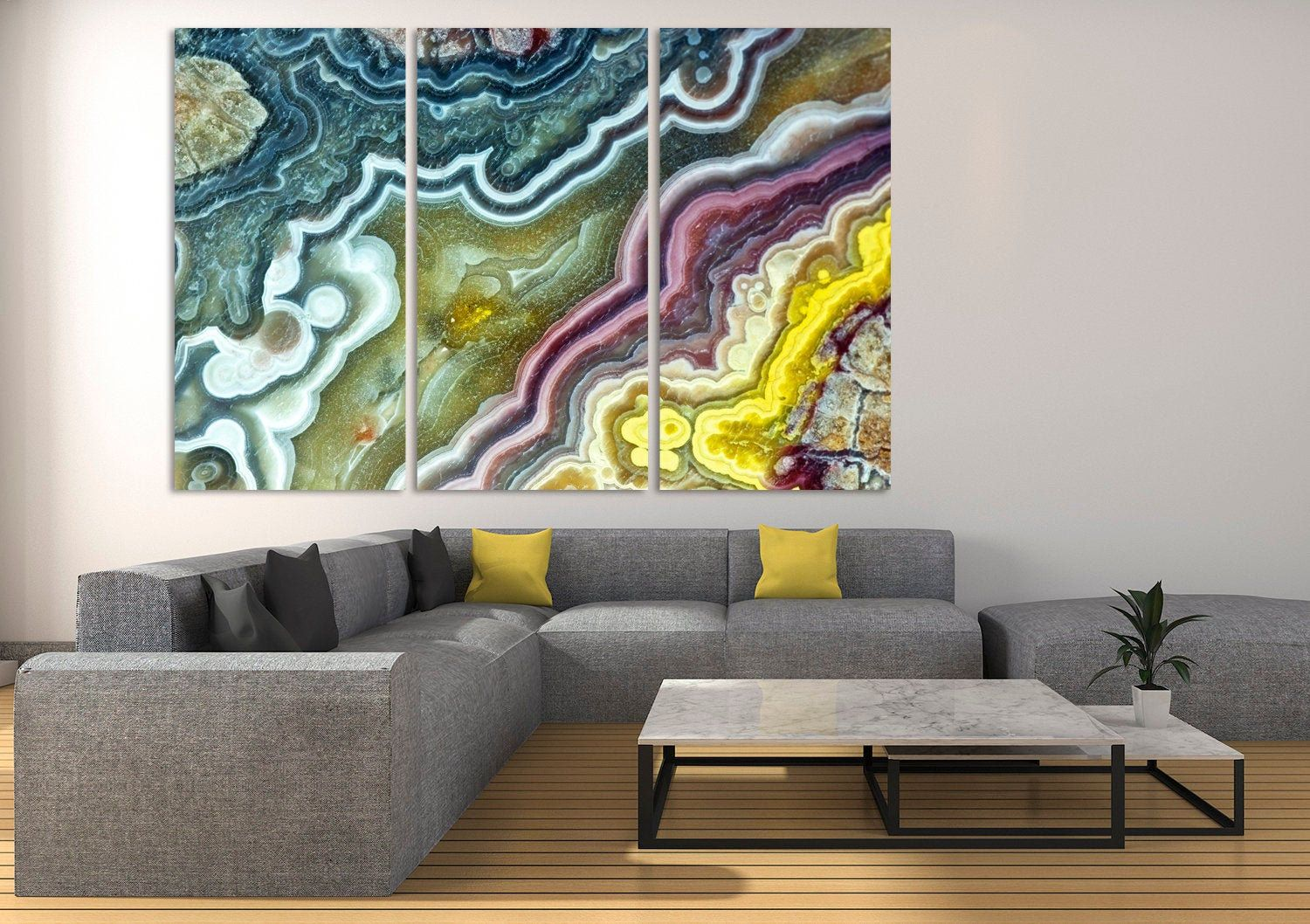 Marble Wall Art Glass Abstract Canvas Print Modern Decor Trend Etsy Large Canvas Wall Art Abstract Decor Glass Wall Art