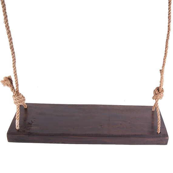 Tree Swing Reclaimed Red Oak Jacobean Stain with Rope