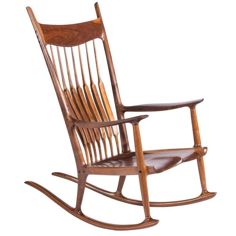Marvelous Sam Maloof Rocking Chair Early Rocker 1977 American Mid Inzonedesignstudio Interior Chair Design Inzonedesignstudiocom