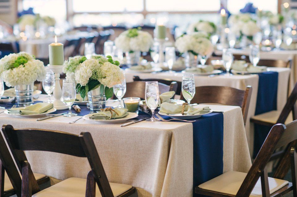 Table Settings With Navy And Teal Google Search