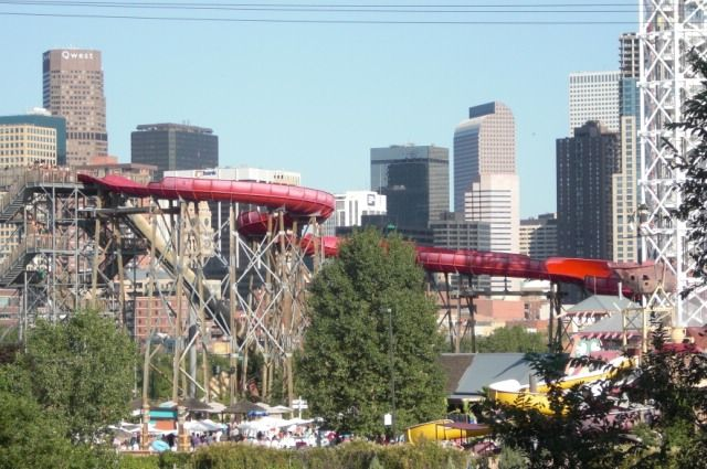 Six Flags With Downtown Denver In The Background Colorado Native Vacation Spots Places