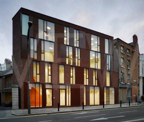 office facade. Lincoln Place Office Building Europe Ireland Dublin 2009 McCullough Mulvin View Of Facade Fro N