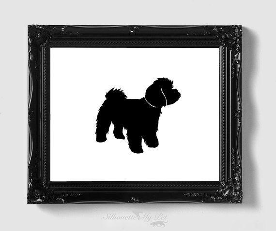 Maltipoo Silhouette Puppy Tattoo 162f73107