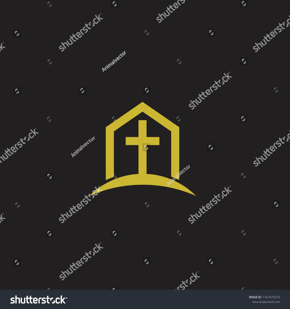 Church Minimal Logo Icon Designs Stock Vector Royalty Free 1167475510 Icon Design Logo Icons Minimal Logo