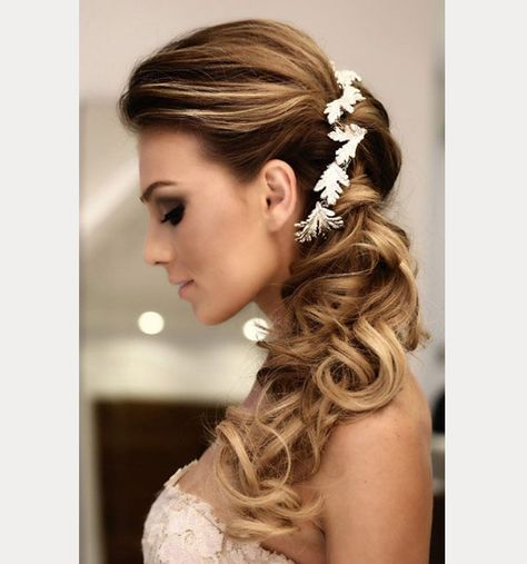 Wedding Side Ponytail Hairstyles: Side Swept Wedding Hairstyles To Inspire