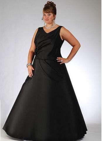 Damenbekleidung Große Größen, Einfaches Schwarzes Kleid Partei ...