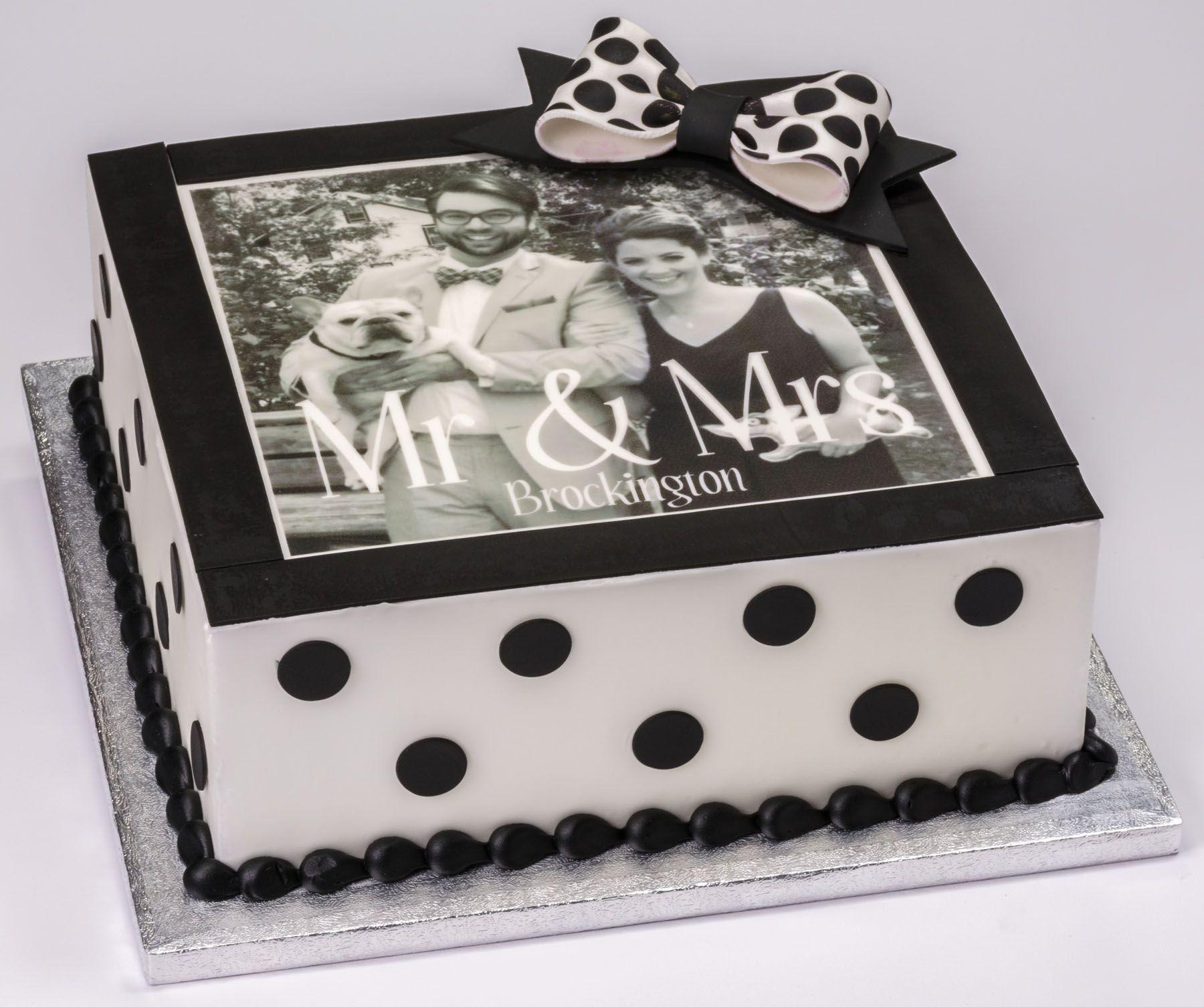 Celebrate anniversaries with a chic black white custom