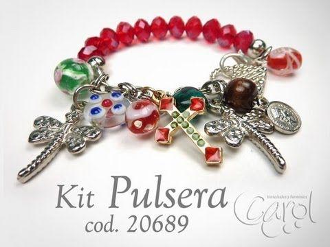KIT 20753 Kit Pulsera Murano Aguamarina x und - YouTube