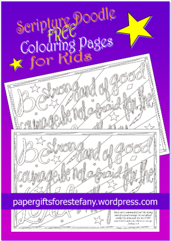 FREE Bible Scripture colouring page doodles for kids