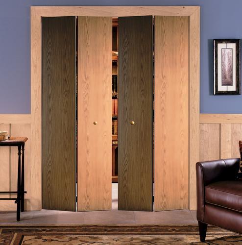 Masonite® Custom Unfinished Flush Veneer Oak BiFold Door
