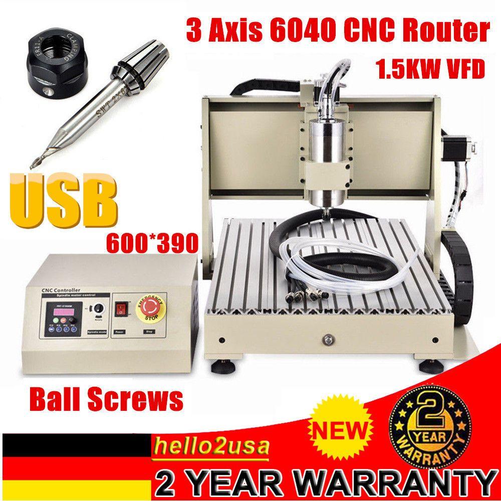 Usb 6040t Graviermaschine 3 Achse Cnc Router Anschneiden MÃhle Bohrer 1500w Dhl Router Cnc Router Cnc