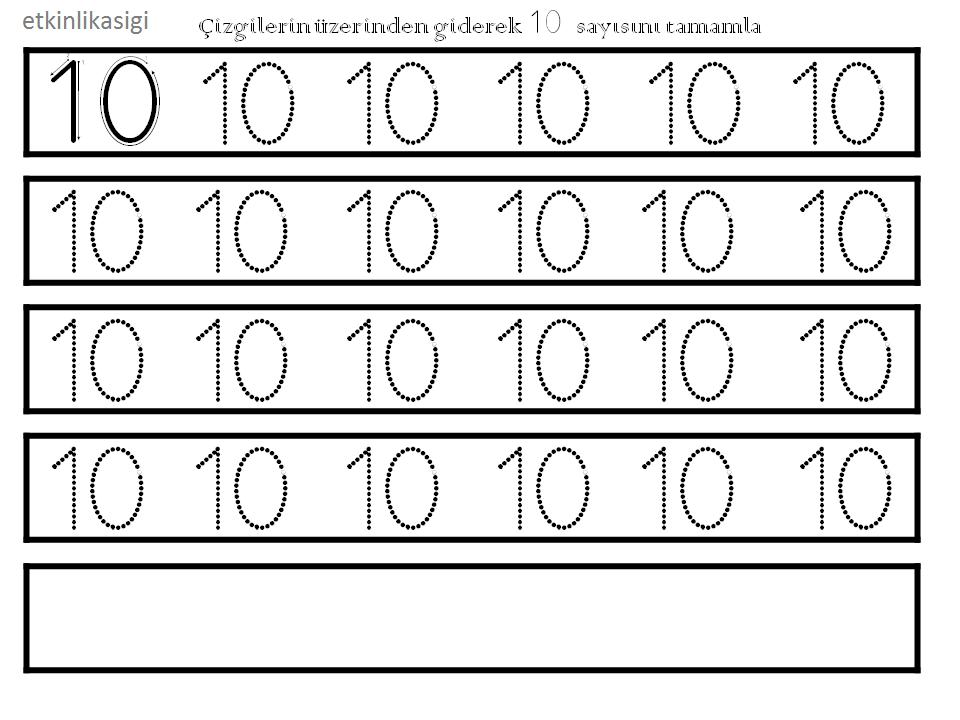 Serpil özkan Adlı Kullanıcının 10 Rakamı çalışma örnekleri