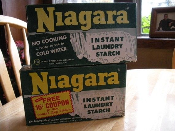 2 Boxes Vintage Niagara Laundry Starch Soap Detergent Vintage