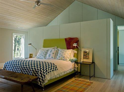 Built Out Wall Behind Bed For Partition Closet Bedroom Design False Wall Closet Bedroom