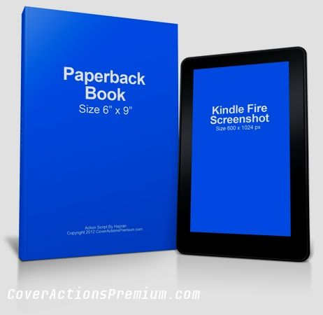 Kindle Mockup Free Cover Template Paperback Books