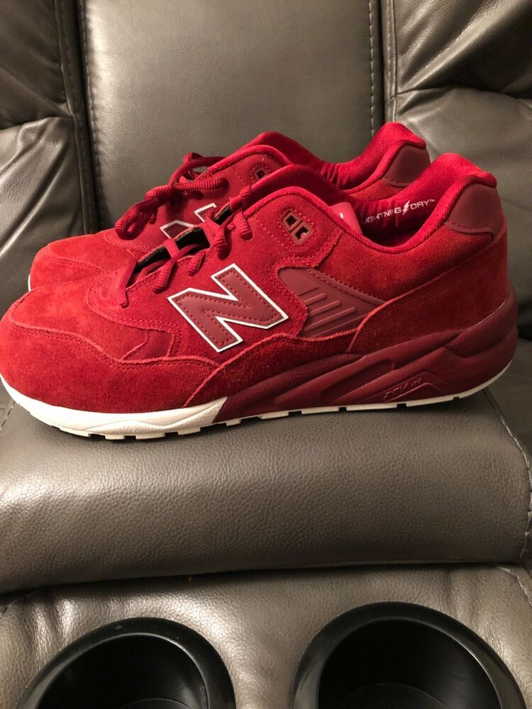 new styles 6fea3 4e6b2 NEW Men s SZ 11.5D NEW BALANCE 580 90 s Run LIFESTYLE RED MAROON CREAM