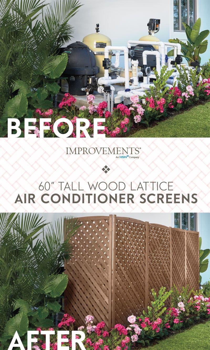 Lattice Air Conditioner Screen Wood Lattice Air Conditioner Screens Pool Equipment