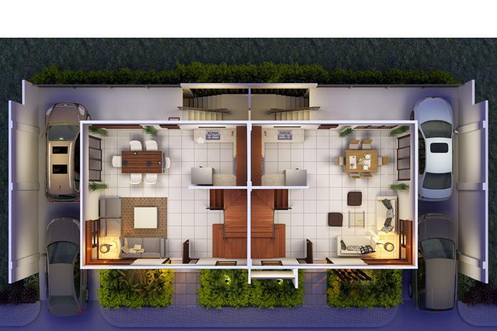 42 Plantas De Casas Duplex E Geminadas Para Construir House