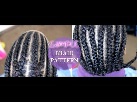 Easy Braid Pattern For Crochet Braids Beginner Friendly Youtube Crochet Braid Pattern Braid Patterns Easy Braids