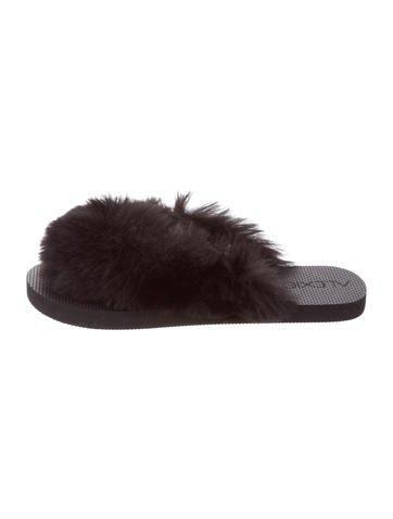Alexis Faux Fur Sandals clearance best place latest cheap online BkNt9
