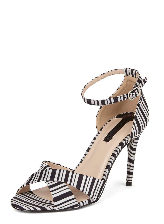 buy popular c5008 6f87f Womens Black Striped  Swoosh  Sandals- Multi Colour