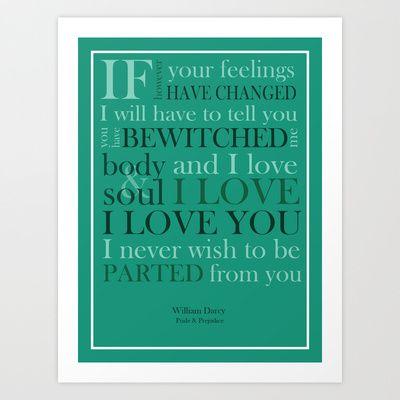 Mr. Darcy quote - Pride & Prejudice