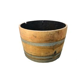 I Think I Can Recreate The Look Of A Whiskey Barrel Out Of Clay For The Master Bath Sinks Barrel Planter Whiskey Barrel Planter Oak Barrel