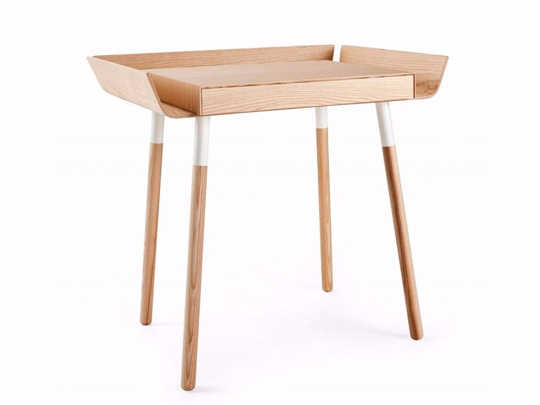 Bureau en bois avec tiroirs pour pc my small writing desk by emko