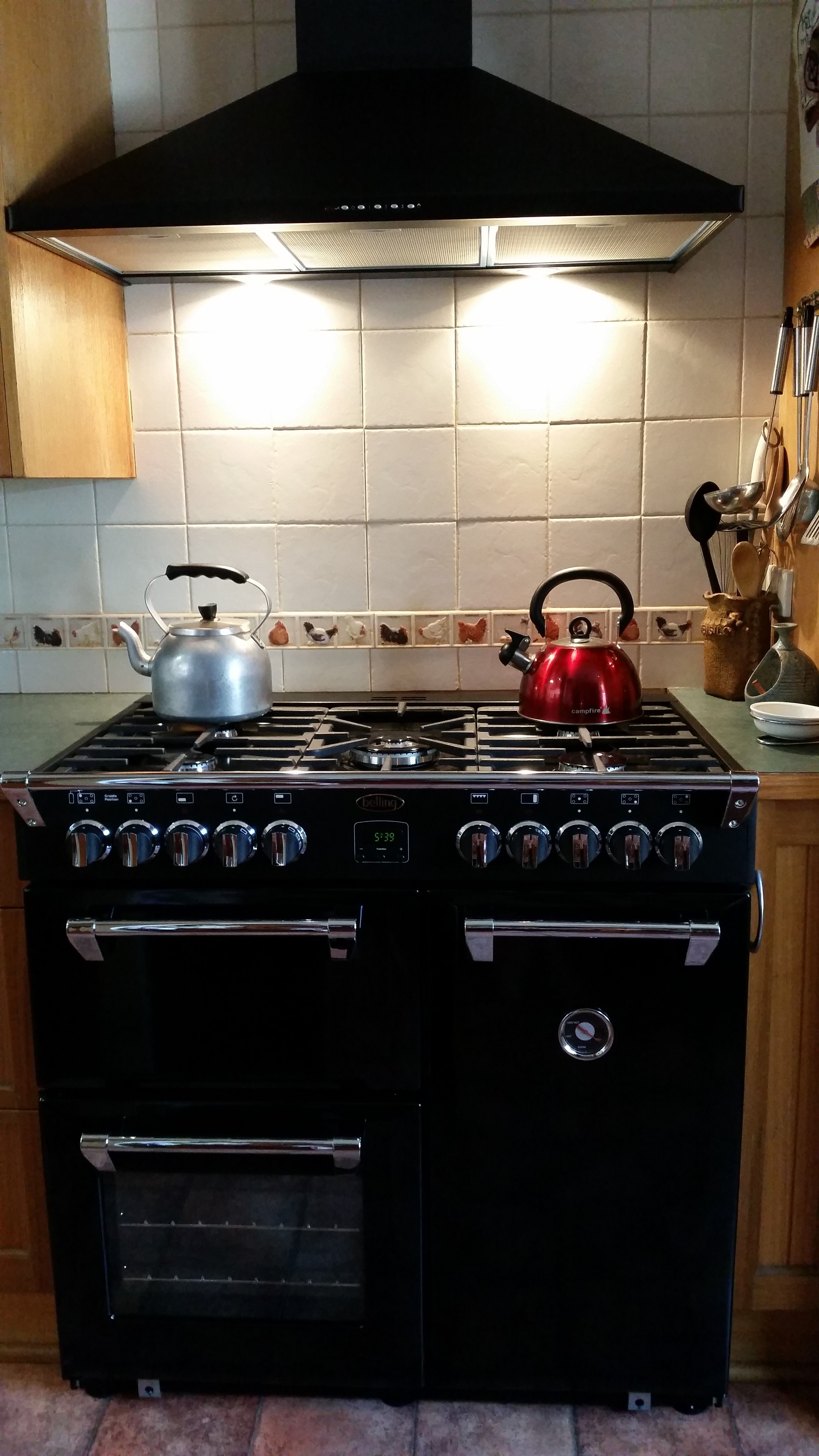 Black belling richmond 90cm range cooker and matching