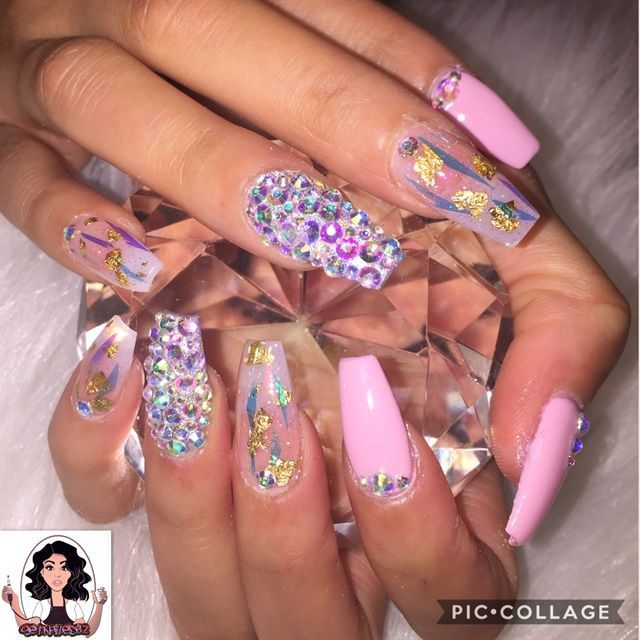 Day 84: Jewels, Marbles, and Glitter Nail Art - - NAILS Magazine ...